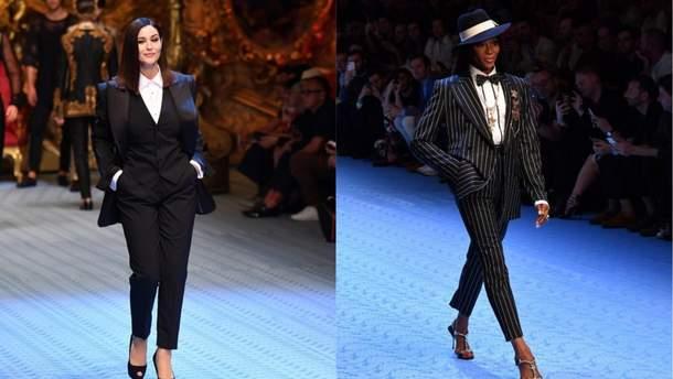 Моника Беллуччи иНаоми Кэмпбелл приняли участие впоказе Dolce & Gabbana