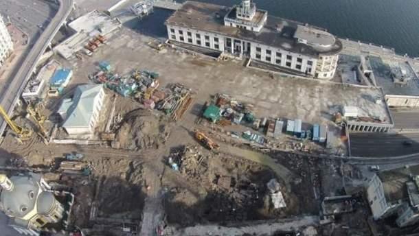 Розкопки на Поштовій площі в Києві