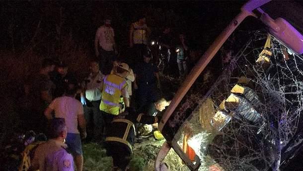 Аварія туристичного автобуса у Туреччині