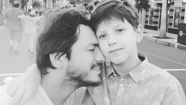 Сергій Притула з сином