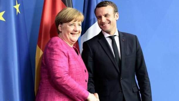Макрон та Меркель поговорили про міграційну політику Європи