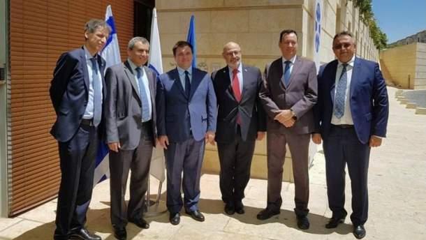 Встреча глав МИД Израиля и Украины
