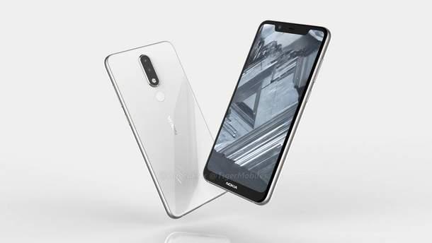 Прототип дизайну  Nokia 5.1 Plus