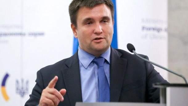 """Клімкін розповів, що на """"нормандській зустрічі"""" Росія хотіла легітимізувати окупацію Донбасу"""
