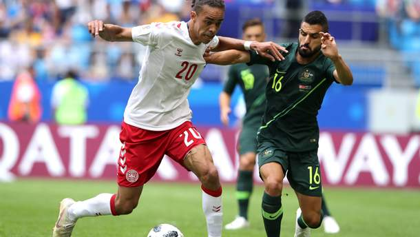 Дания и Австралия сыграли вничью на Чемпионате мира 2018