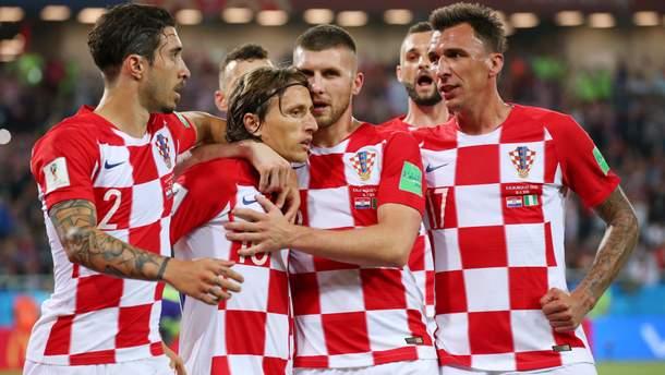 Сборная Хорватии первый матч на ЧМ-2018 играла в Калининграде