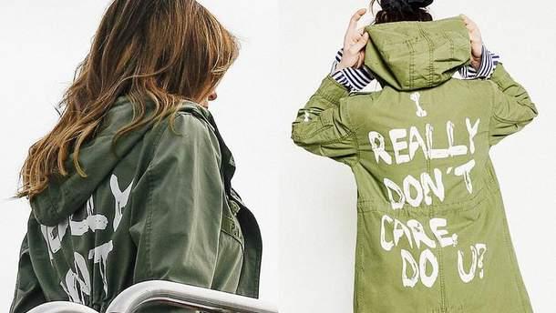 Мелания Трамп надела провокационную куртку