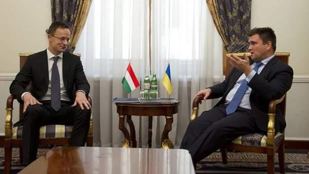 Главы МИД Украины и Венгрии