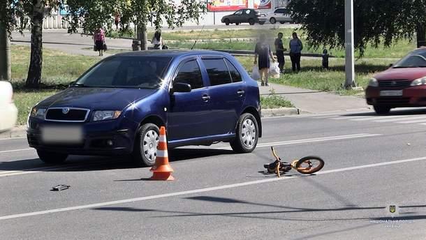 В Харькове иномарка наехала на 4-летнего мальчика
