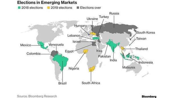 Карта Bloomberg