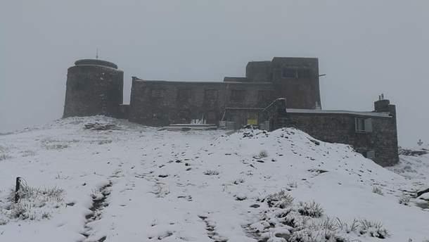 23 июня в Карпатах на горе Иван Поп выпал снег