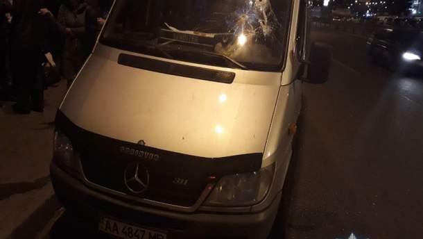 Нападение на авто в Киеве