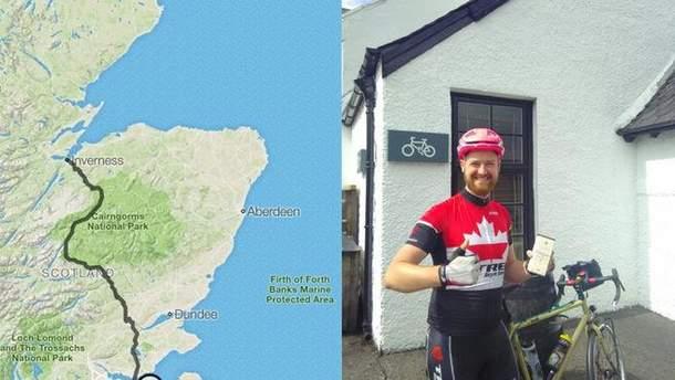 """Британец проехал 270 километров на велосипеде, потому что ему не разрешили взять с собой в вагон поезда """"двухколесного коня"""""""