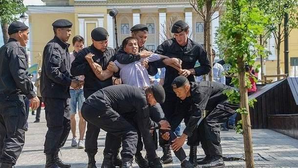 В нескольких городах Казахстана продолжаются несанкционированные оппозиционные митинги
