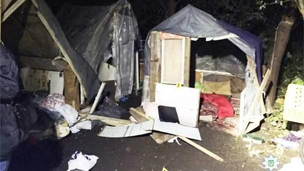 Місце нападу на табір ромів у Львові
