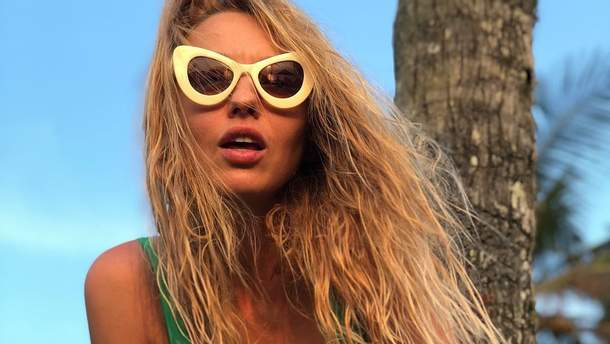 Оля Полякова вразила розкішною фігурою на пляжі (фото)