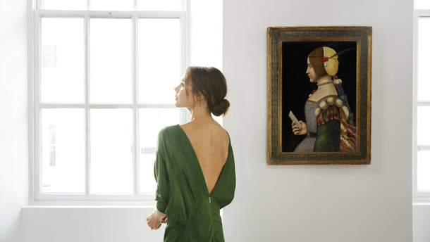 Вікторія Бекхем і картина Леонардо да Вінчі