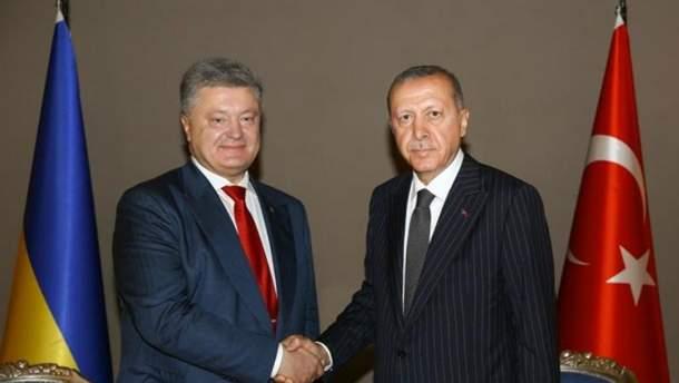Петр Порошенко поздравил Эрдогана с победой
