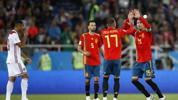 Іспанія перемогла Марокко та вийшла з першого місця з групи В