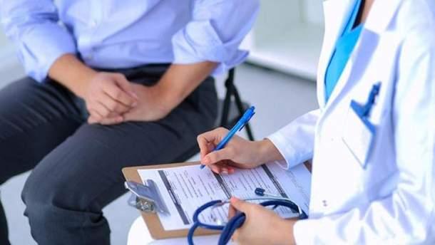 Подписание декларации с врачом