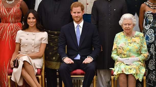 Меган Маркл, принц Гаррі та королева Єлизавета II
