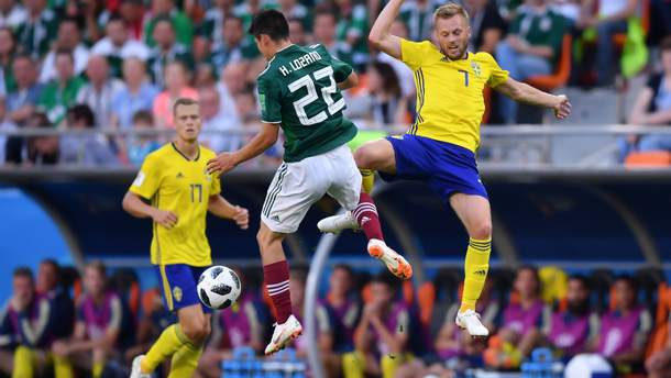 Мексика - Швеция видео голов матча ЧМ-2018