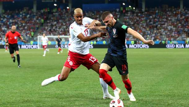 Хорватия – Дания: результат матча ЧМ-2018