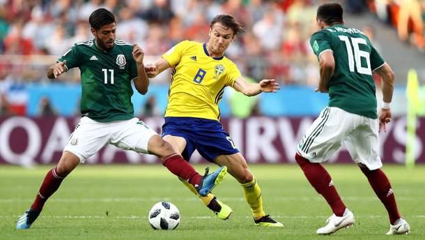 Швеция обыграла Мексику на Чемпионате мира