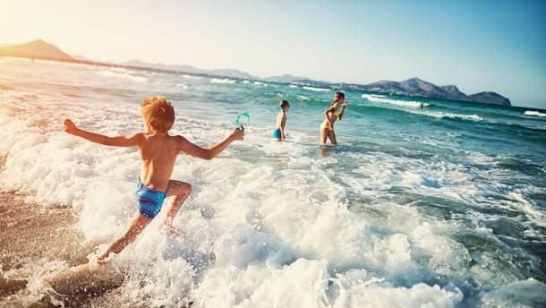 Морская вода: польза для ребенка
