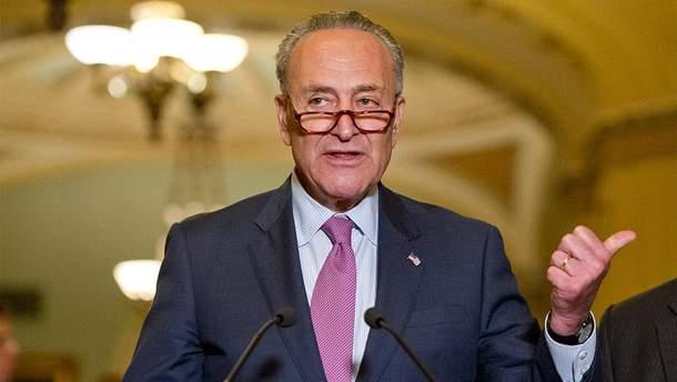 Лідер Демократичної партії у Сенаті США Чак Шумер.