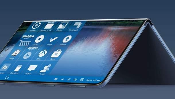 Складывающийся смартфон смартфон Microsoft Surface не выйдет в 2018 году