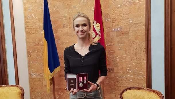 Элина Свитолина и ее награда