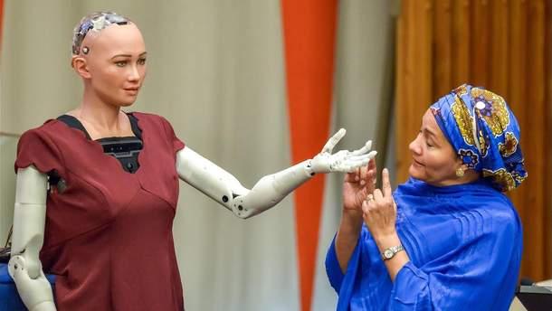 Робот Софія розповіла, яке це бути жінкою та для чого є потрібними роботи