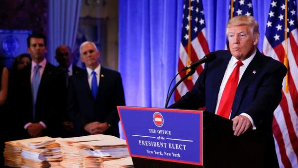 Трамп на встрече с Путиным