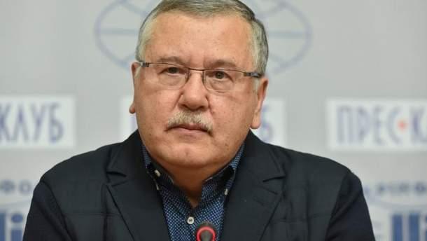 Гриценко прокоментував відкриття кримінальної справи у Росії на себе