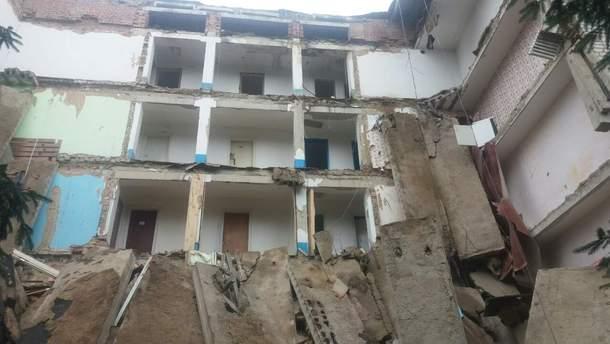 В Житомирской области обвалилось студенческое общежитие