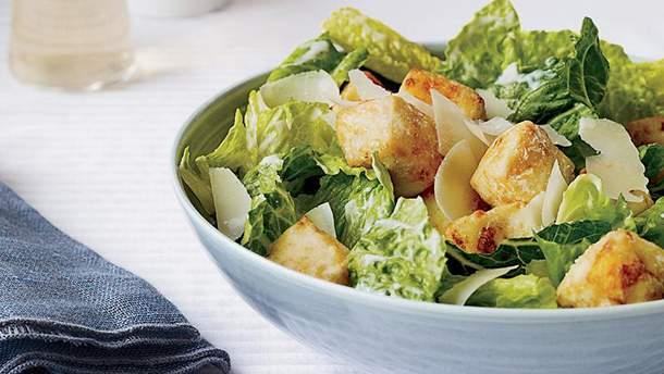 Салат Цезарь: классический рецепт приготовления салата Цезарь