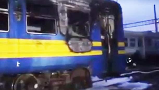 У Коломиї загорілась електричка з пасажирами
