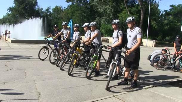 Полицейский велопатруль появился в Херсоне