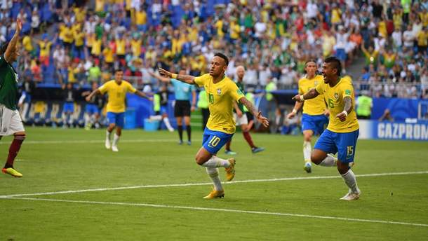 Бразилия – Мексика видео голов матча ЧМ-2018