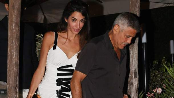 Амаль и Джордж Клуни на Сардинии