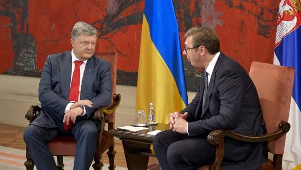 Президенты Петр Прошенко и Александар Вучич провели переговоры в Сербии