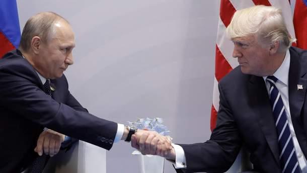 Украинский художник нарисовал жесткий плакат к встрече Трампа с Путиным