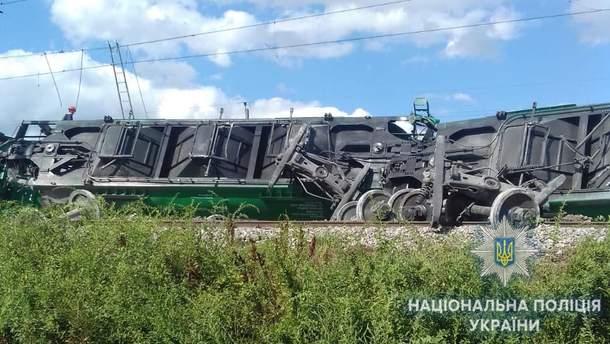 В Одесской области 14 вагонов сошли с рельсов