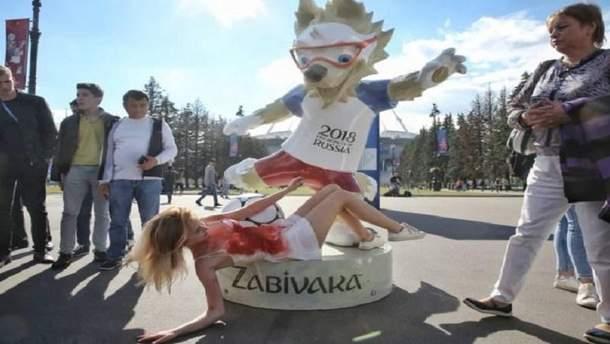 В России активистов задержала полиция за акцию перед матчем ЧМ
