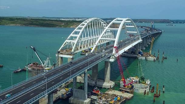 Крымский мост находится под мощной охраной