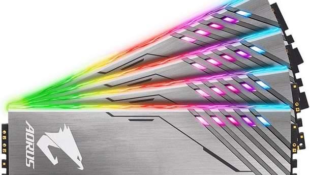 Компанія Gigabyte випустить яскраву оперативну пам'ять Aorus RGB