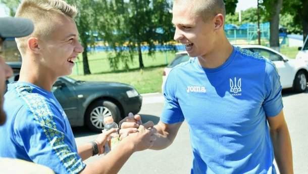 Футболисты сборной Украины U-19