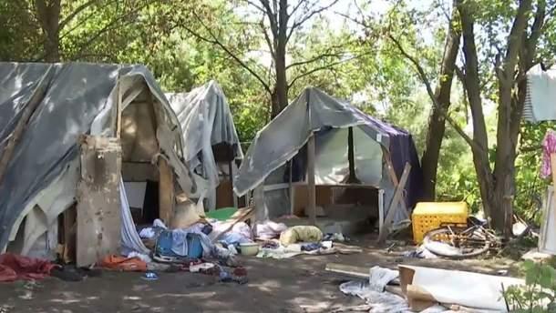 Лагерь ромов