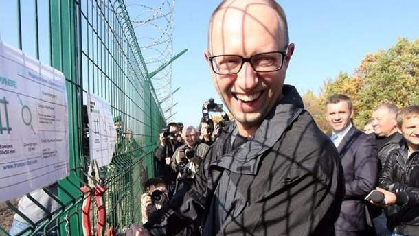 Яценюк на границе